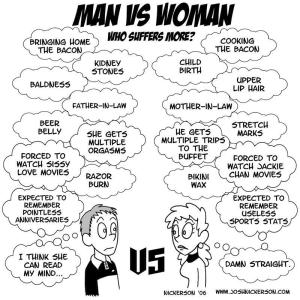 Why do women do things they don't want men to do and vice versa?